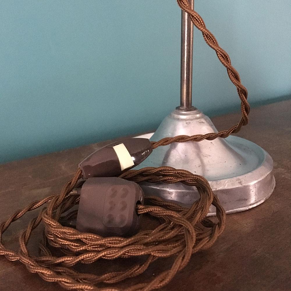 lampe de bureau industriel restaurée