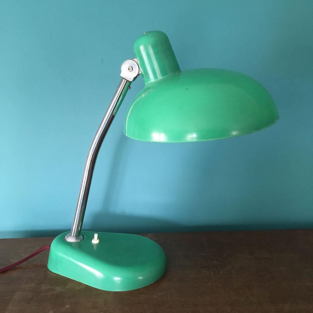 Lampe vintage resistex verte