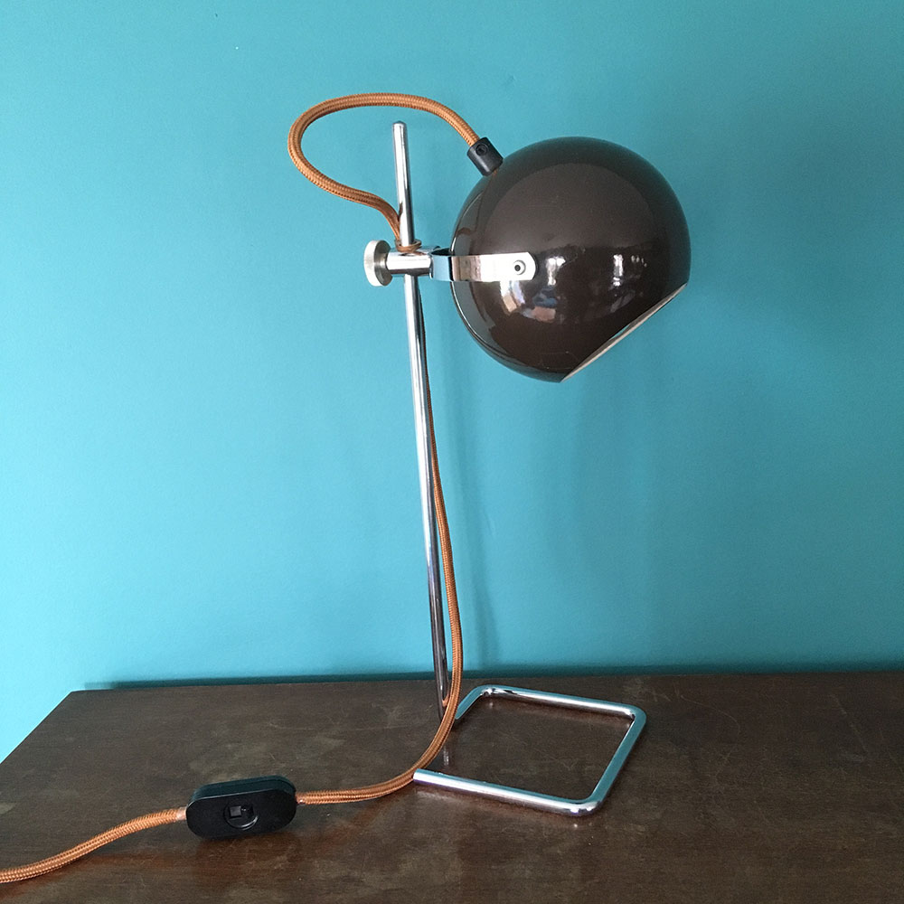 lampe vintage eyeball marron