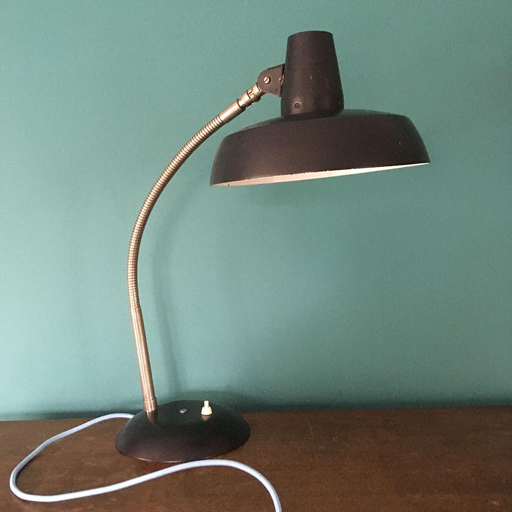 Ancienne Lampe De Bureau De Notaire Ou D Avocat 1930 Avec Socle