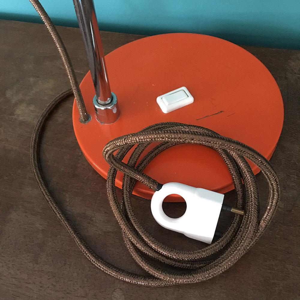 Lampe De Bureau Vintage Orange Annee 70 Millezime Lampe Vintage