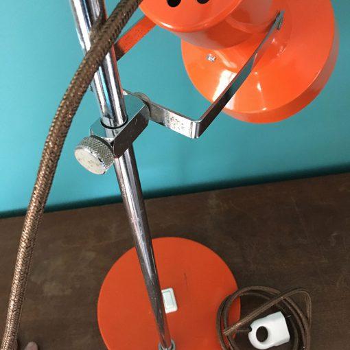 Lampe vintage orange reglable