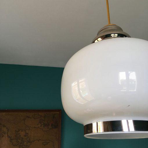 grande suspension verre blanche
