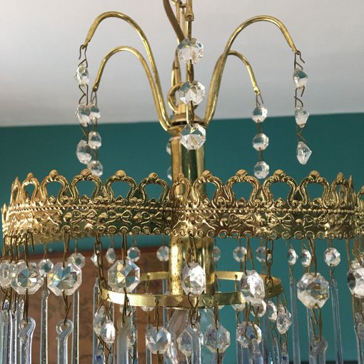 lustre cascade verre