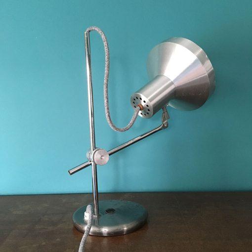 lampe bureau grise ancienne