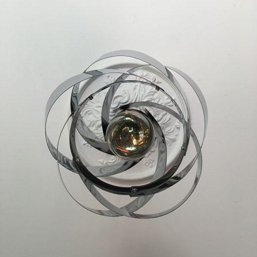 suspension métail ancienne atome