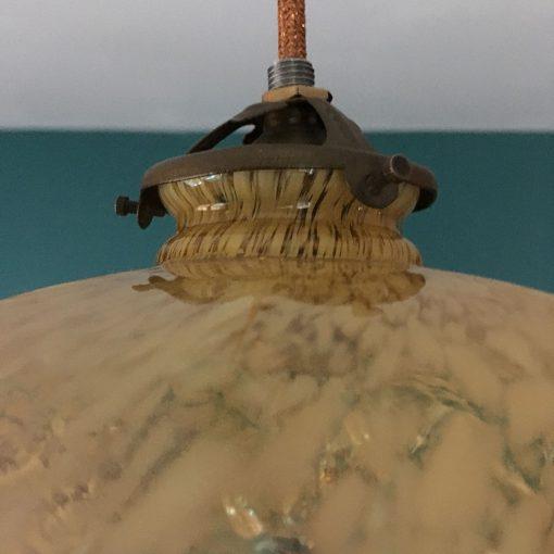 suspension ancienne verre griffe