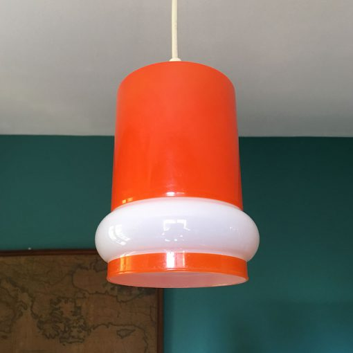 suspension vintage opaline orange