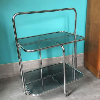 table roulante pliable vintage