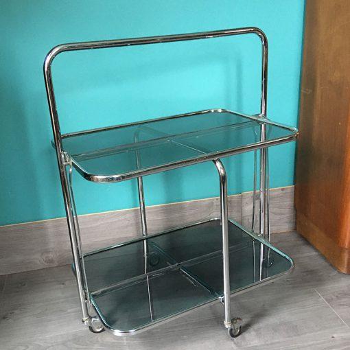 table roulante pliable vintage