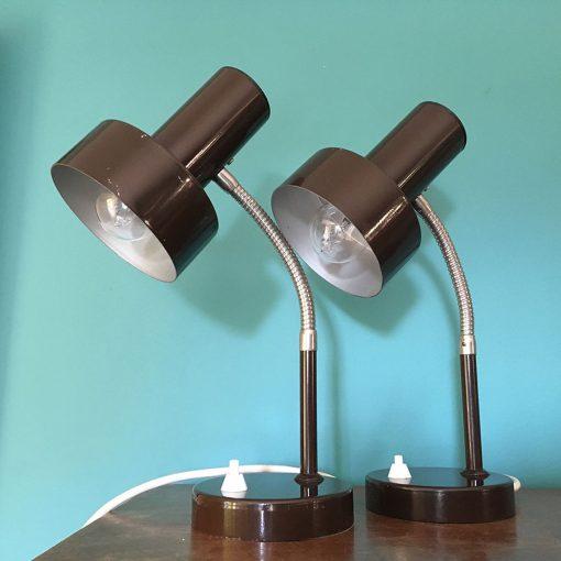 Paire lampes bureaux vintage années 60
