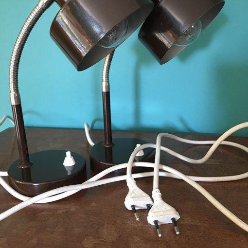 paire lampes bureau année 60