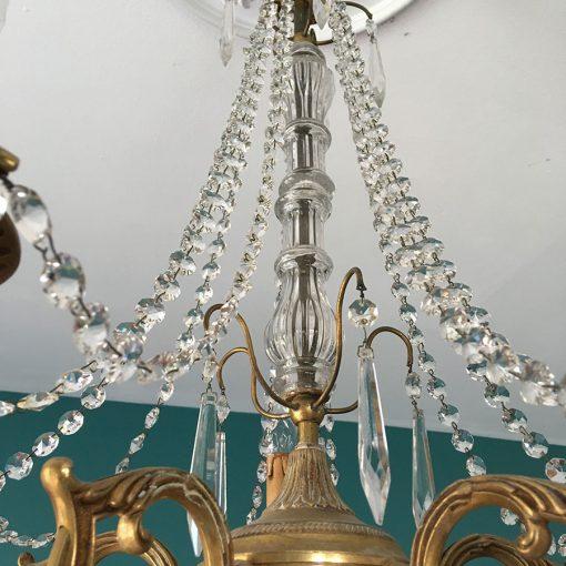lustre ancien pampilles cristal