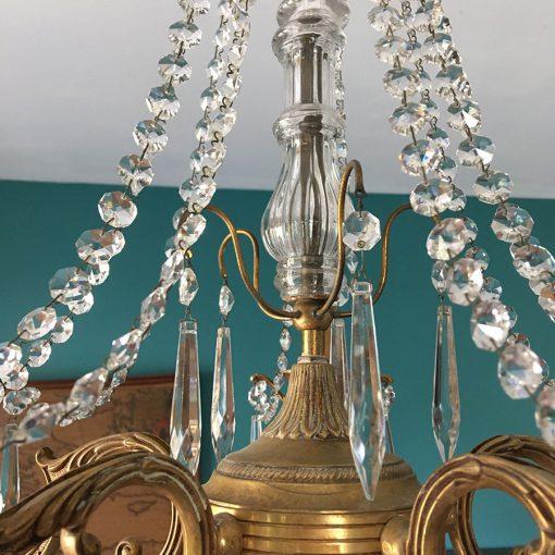 lustre guirlande cristal