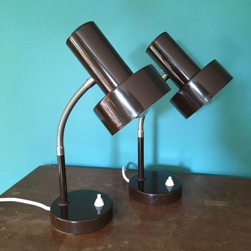 paire-lampes-bureau-marron